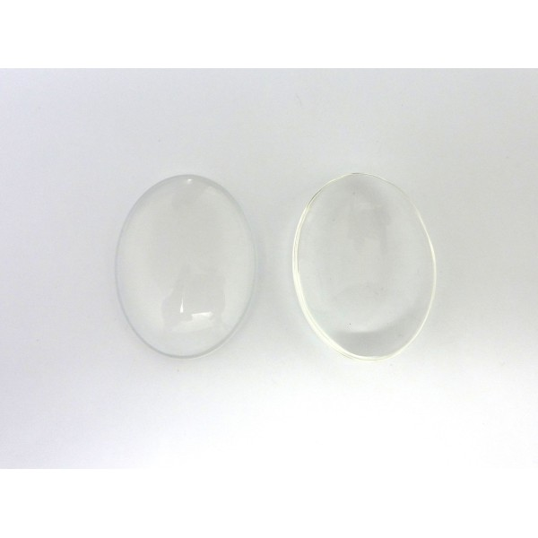 2 Cabochons Verre Ovale 40x30mm - Photo n°3