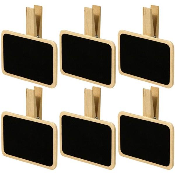 Pince à linge 7 cm Mini ardoise - 6 pièces - Photo n°1