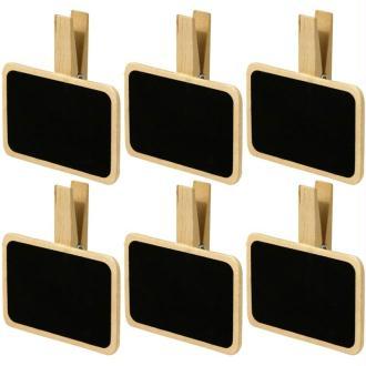 Pince à linge 7 cm Mini ardoise - 6 pièces