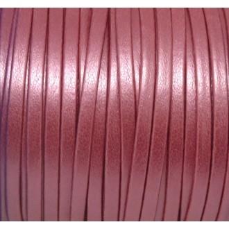 1m Lanière Simili Cuir 3mm De Couleur Rose Framboise Effet Nacré Très Belle Qualité