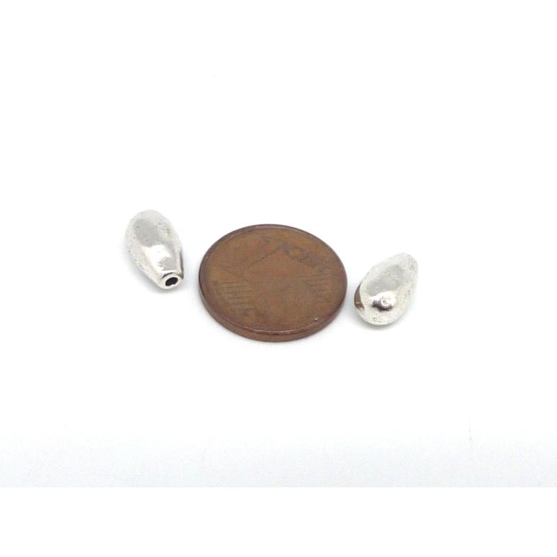 10 perles embout de finition grain de riz martel goutte pour cordon de 1mm en m tal argent. Black Bedroom Furniture Sets. Home Design Ideas