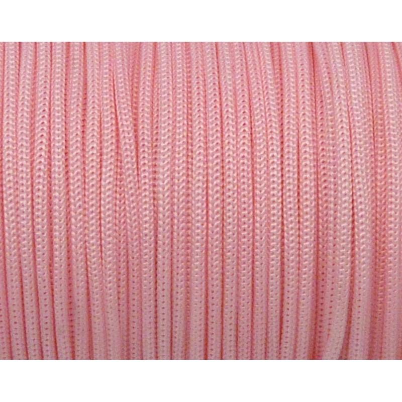 4m Fil, Cordon Polyester, Nylon Tressé 1,3mm Rose Pâle Shamballa , Photo