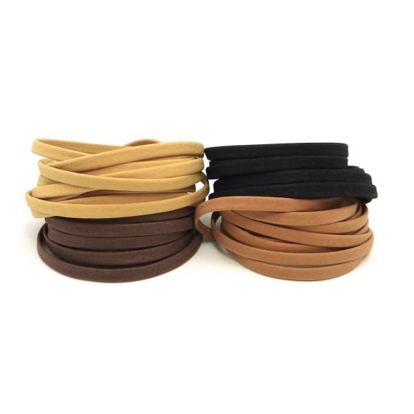 50 mètres cordon cuir lacet cuir noir 1,5 mm