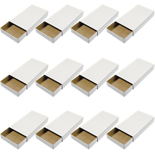 Boites Format Allumettes Vide A Decorer 11 X 6 5 X 2 Cm 12 Pcs