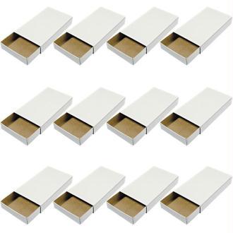 Boîte d'allumettes vide à décorer 11 x 6,5 x 2 cm - 12 pièces