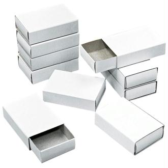 Boîtes format allumettes vide à décorer - 5,3 x 3,6 x 1,5 cm - 12 pcs