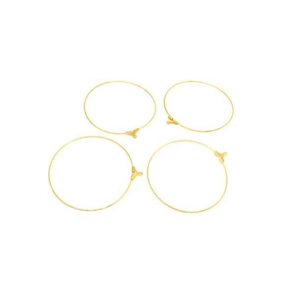 6 Supports Boucles D oreilles Créoles 50mm En Métal Doré - Clou d ... 885310709c89