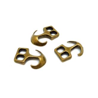 Lot De 3 Fermoirs Crochet Ancre Pour Cuir 20,1mm, Bracelet Multi Rangs En Métal De Couleur B