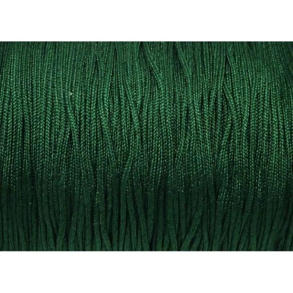10m Fil De Jade 0,8mm De Couleur Vert Foncé - Idéal Noeud Coulissant - Wrap - Shamballa - Photo n°1