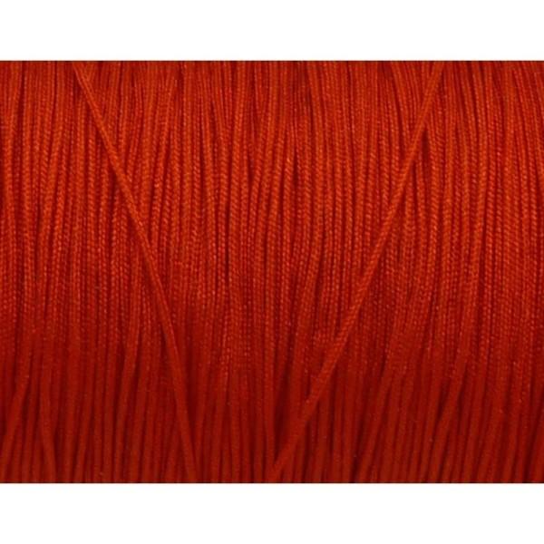 10m Fil De Jade 0,8mm De Couleur Rouge Vif - Idéal Noeud Coulissant - Wrap - Shamballa - Photo n°1