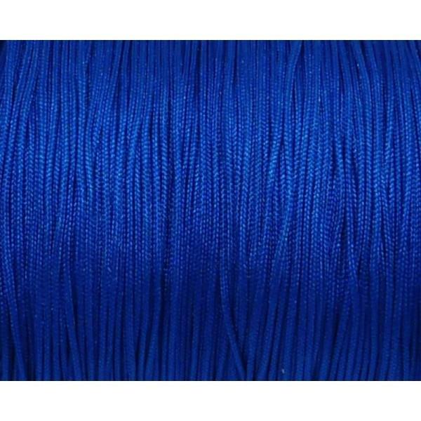 10m Fil De Jade 0,8mm De Couleur Bleu Vif électrique - Idéal Noeud Coulissant - Wrap - Shamballa - Photo n°1