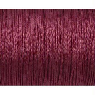 10m Fil De Jade 0,8mm De Couleur Vieux Rose Fuchsia  - Idéal Noeud Coulissant - Wrap - Shamballa