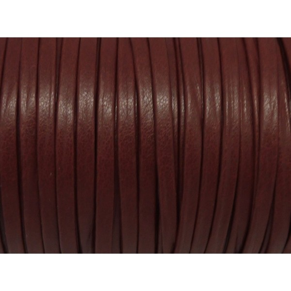 2f9daa617bc6 1m Lanière Simili Cuir 3mm De Couleur Rouge Grenat Bordeaux Foncé Très  Belle Qualité - Photo
