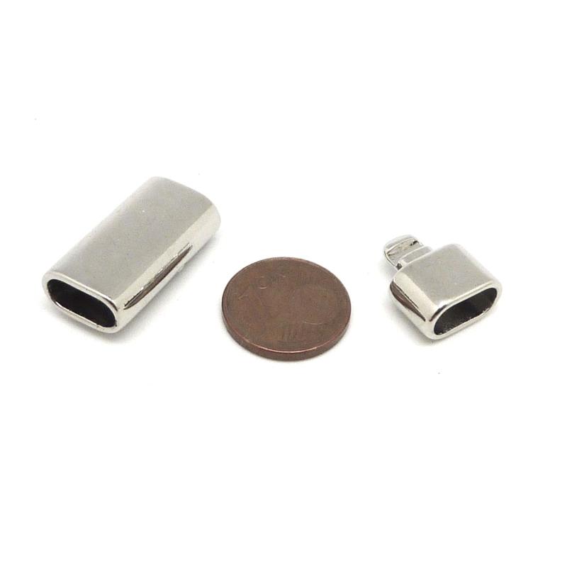 fermoir clip pour cordon cuir lani re ouverture 10 5mm x 5