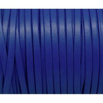 1m Lanière Simili Cuir 3mm De Couleur Bleu Saphir Très Belle Qualité