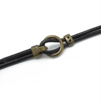 Fermoir Crochet Pour Cordon 4,5mm En Métal De Couleur Bronze