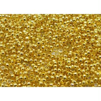 Lot De 400 Perles à écraser Métal Doré 2mm