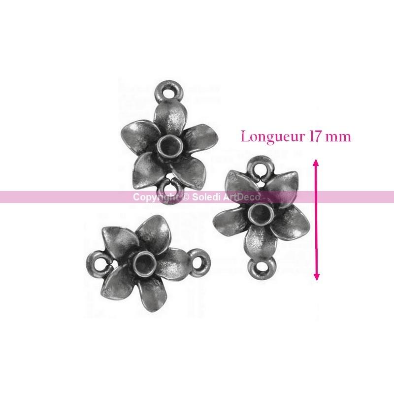 Lot de 3 breloques en m tal forme fleur diam 17 mm for Acheter miroir ancien
