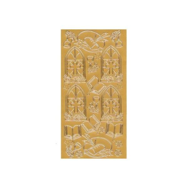 Sticker de contour, Symboles religieux de 25 à 55 mm, dorés - Photo n°1