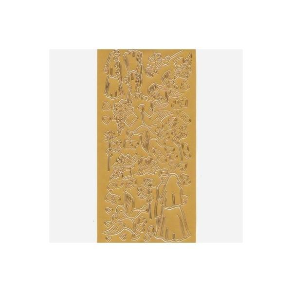 Sticker de contour, symboles de Mariage, de 15 à 75 mm - Photo n°1