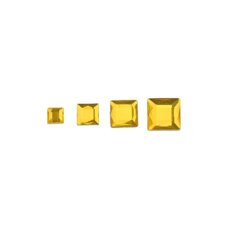 Set de 52 cabochons carrés en acrylique facettés à coller - Photo n°1