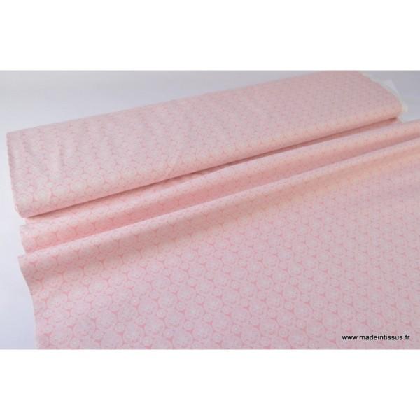 Tissu Coton imprimé dessin enfants minimini rose - Photo n°3
