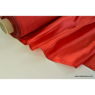 Doublure satin rouge polyester premier prix .x1m