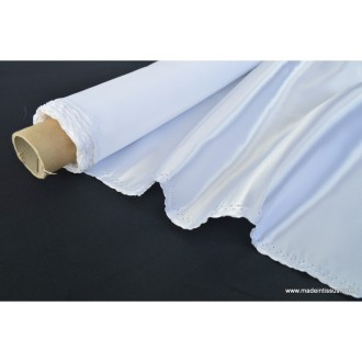 Doublure satin blanc polyester premier prix .x1m