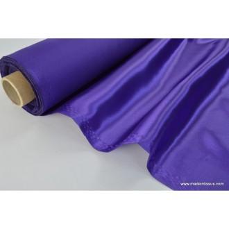 Doublure satin violet polyester premier prix .x1m