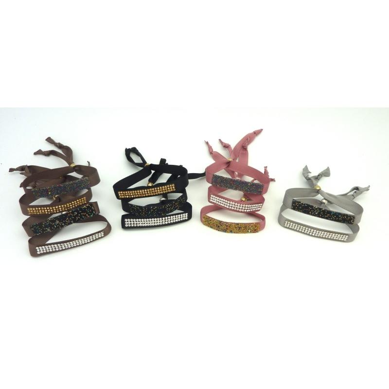 Kit de cr ation bracelet ruban gris clair ajustable et - Cuisine peinte en gris ...