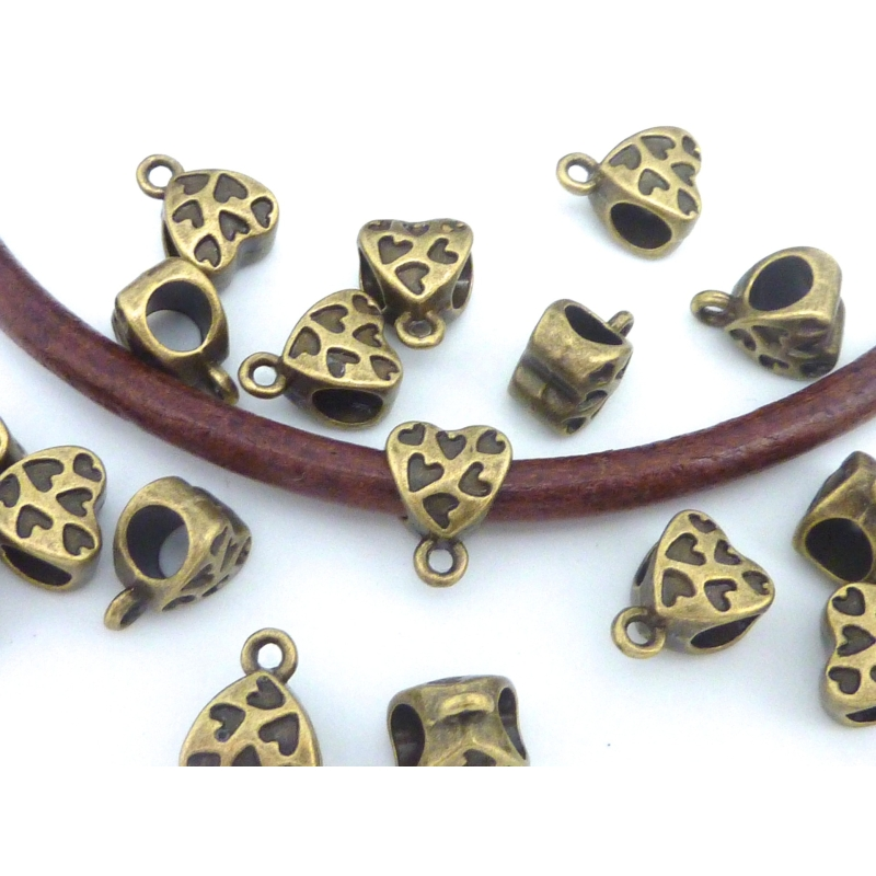 en filigrane anneaux dans Vintage Bronze 5 grande 37 mm