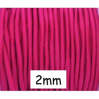 5m De Fil élastique 2mm Rose Vif
