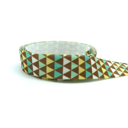 1m Ruban élastique 15mm Motif Géomètrique Pour Headband Par Exemple De Couleur - La Cuisine des Perles