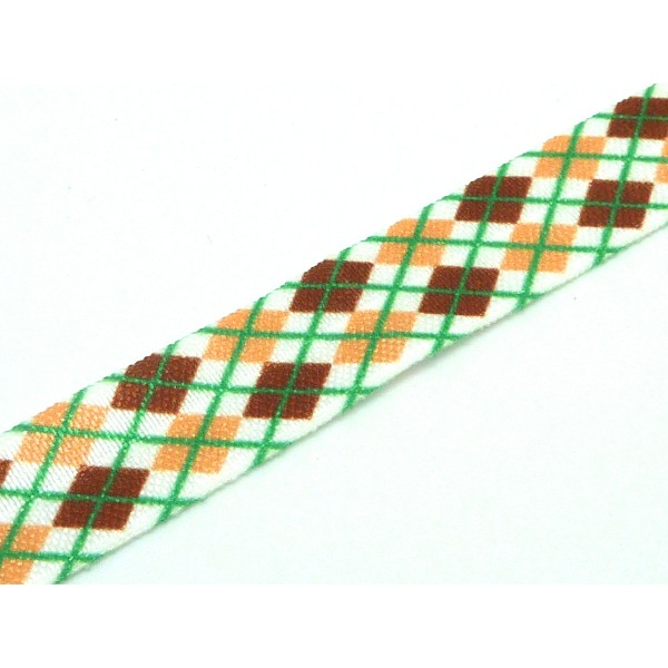 acb214d93d9 1m Ruban Élastique 15mm Motif Jacquard Carreaux Pour Headband Par Exemple  De Couleur Marron