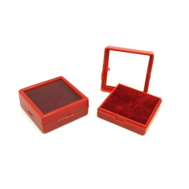 lot de 5 petits crins carr boite de rangement en plastique 4cm x 4cm x 1 5cm rouge perles. Black Bedroom Furniture Sets. Home Design Ideas