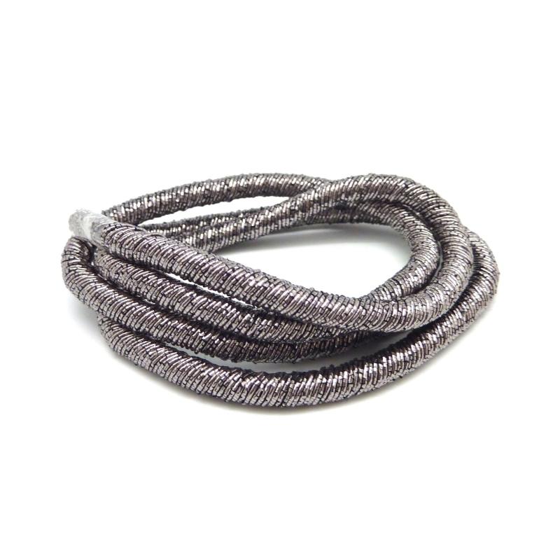 50cm Cordon Chainette 4mm De Couleur Argenté Hématite, Gris Foncé Brillant Fil - Photo n°1