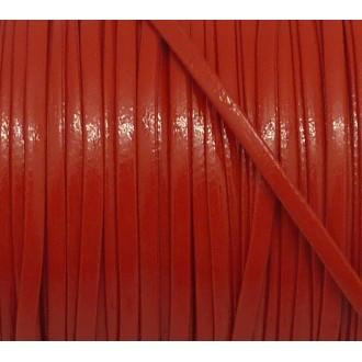 1m Lanière Cuir Synthétique Couleur Rouge Vif 2,5mm Aspect Brillant Vernis Idéal Bracelet Multirang