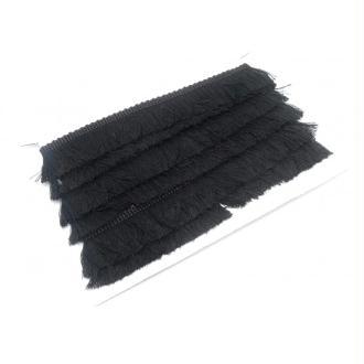 R-50cm De Galon Frange Pour Customisation Ou Réalisation De Pompon Couleur Noir En Polyester Et Cot