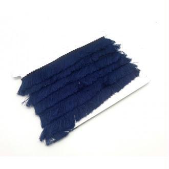 50cm De Galon Frange  De Couleur Bleu Marine Foncé En Polyester Et Coton