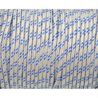 2m Paracorde 3mm Cordon Nylon Tressé Corde Nylon Gainé Blanc Cassé Et Bleu