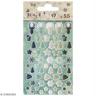 Set d'embellissements scrapbooking - Let it Snow - 55 pcs