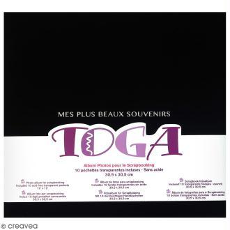 Album scrapbooking en tissu Toga - Noir - 30,5 x 30,5 cm