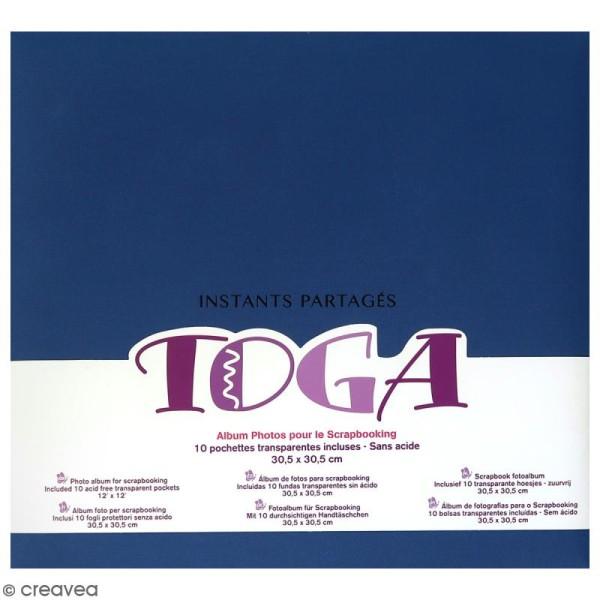Album scrapbooking en tissu Toga - Bleu - 30,5 x 30,5 cm - Photo n°1