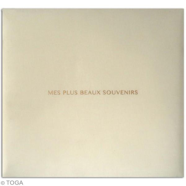 Album scrapbooking en tissu Toga - Ivoire - 30,5 x 30,5 cm - Photo n°2