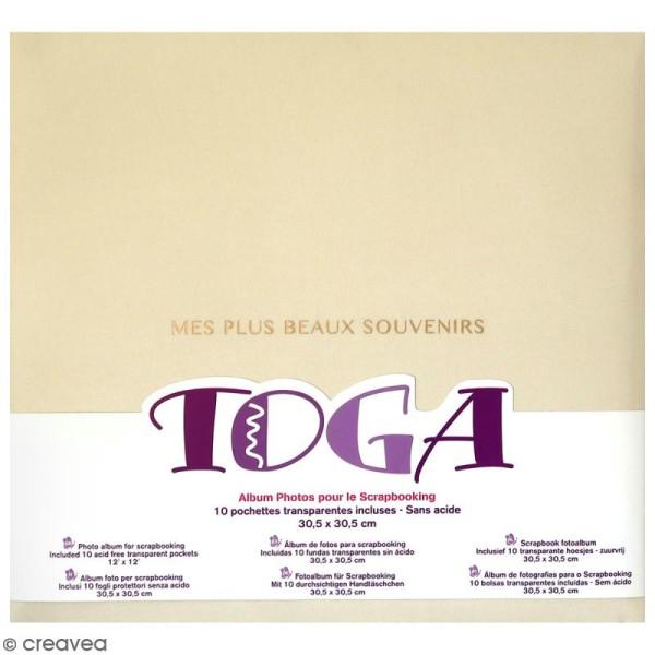 Album scrapbooking en tissu Toga - Ivoire - 30,5 x 30,5 cm - Photo n°1