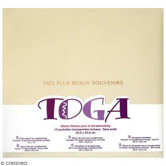 Album scrapbooking en tissu Toga - Ivoire - 30,5 x 30,5 cm