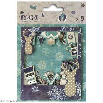 Cadre Polaroïd en papier - Let it Snow - 8 pcs