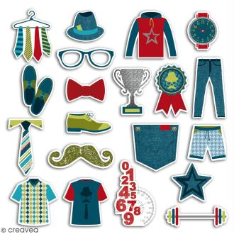 Chipboard 100 % Masculin - 20 pcs
