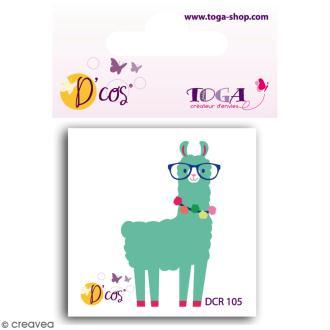 Die D'COS Lama - Plaque 4,5 x 4,5 cm