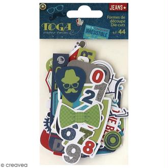 Die cut Toga - 100 % Masculin - 44 pcs